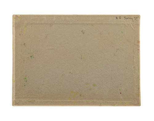 A Vintage Oil On Canvas Spring Landscape Inscribed R.I. Spring 57'