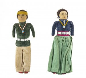 A Pair Of Vintage Navajo Dolls