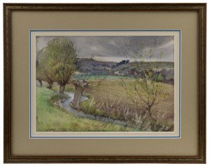 An Early 20th Century British School Inscribed Landscape Watercolor