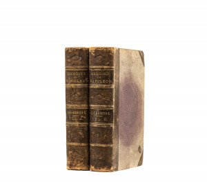 An Antique Two Volume Gilt Leather Bound Edition Memoirs Of Napoleon Bourrienne