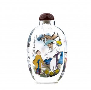 A Contemporary Inside Painted Glass Chinese Snuff Bottle