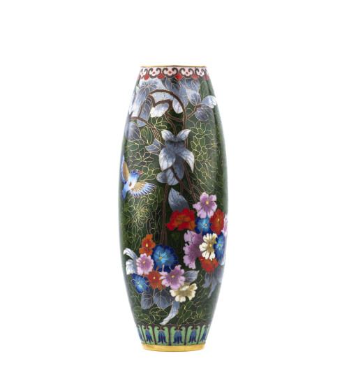 A Vintage Chinese Cloisonne Floral Vase