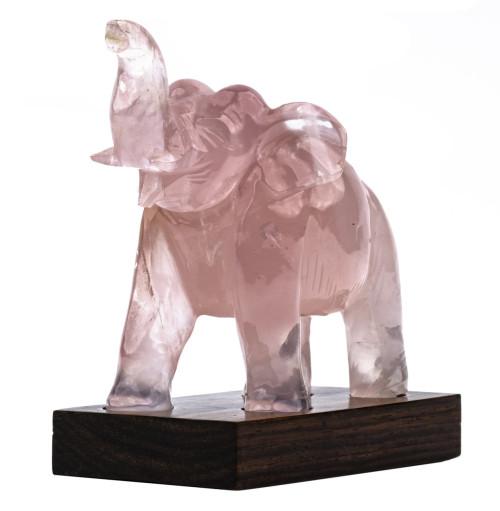 A Chinese Vintage Quartz Carved Elephant