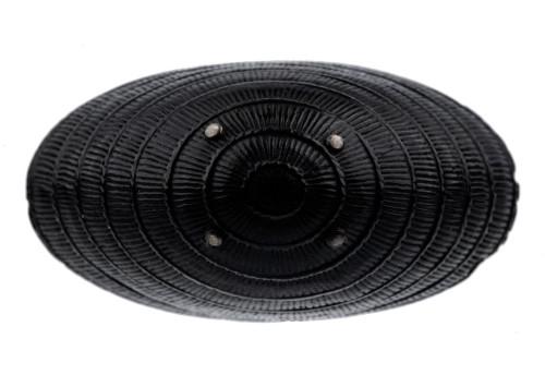 An Antique Japanese Edo Era Carved Inlaid Basket Netsuke
