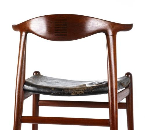 A Vintage Danish Modern H.J. Wegner Johannes Hansen MCM Teak Chair