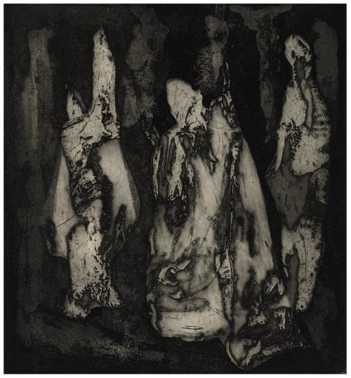 "A Vintage Intaglio Print Signed Thomas Fera 1962 ""Resurrection I"""
