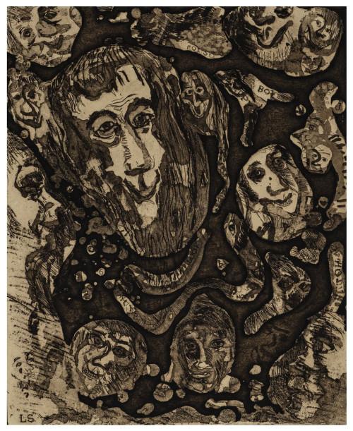 "A Vintage Artist Proof Intaglio Print Signed Lenore Schulman ""Nocturnal Reverie"""