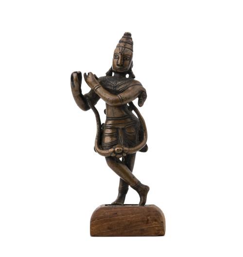 An Antique Indian Bronze Standing Deity Sculpture
