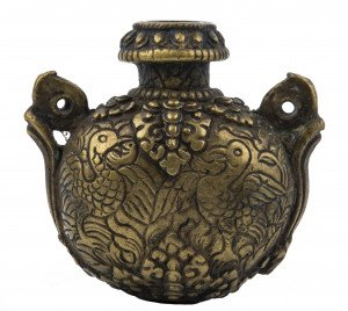 A 19th Century Indian Copper Alloy Miniature Vase