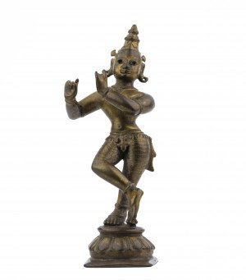 An 18th Century Indian Copper Alloy Krishna Sculpture
