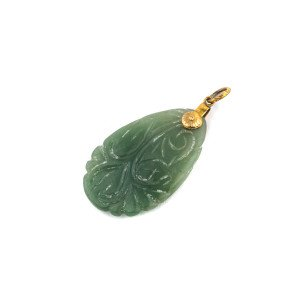 A Vintage Chinese Hardstone Archaic Style Pendant
