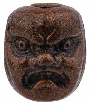 An Antique Japanese Double Face Lacquered Ojime Bead