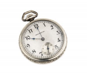 An Antique Engraved Arlington Swiss Made Pocket Watch