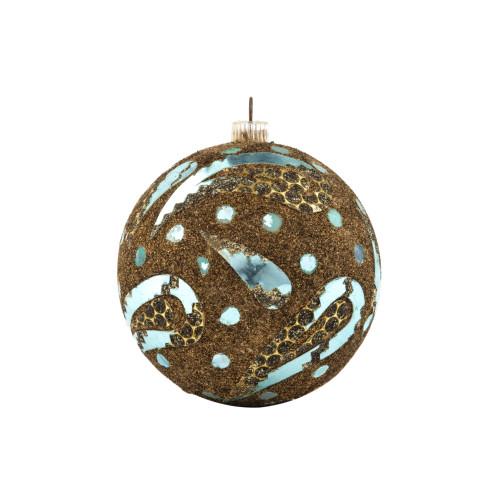 A Vintage West German Copper Sparkle Christmas Ornament