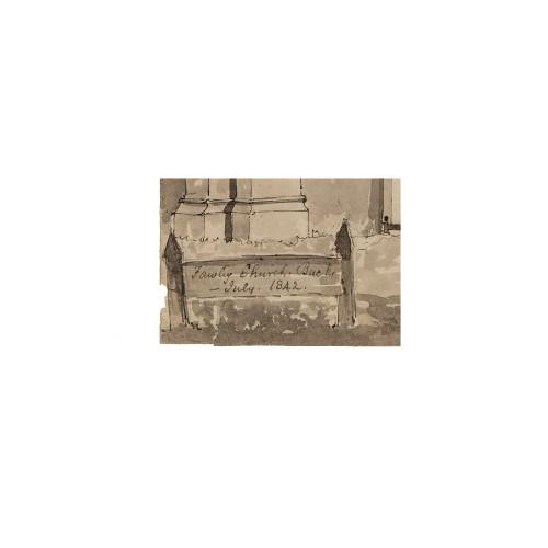 British School Drawing Fawley Church Burks July 1842