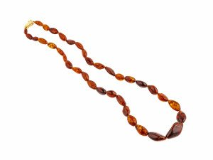 Amber Jewelry Necklace Vintage Bead Form