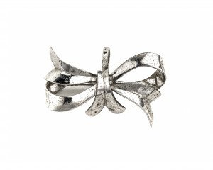 Sterling Silver Jewelry Pendant Pin Bow Tie Vintage Signed BB 1