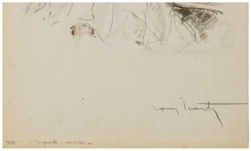 An Antique Original Signed Louis Icart Watercolor Drawing