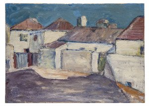 39' Impressionist Vintage Landscape Painting
