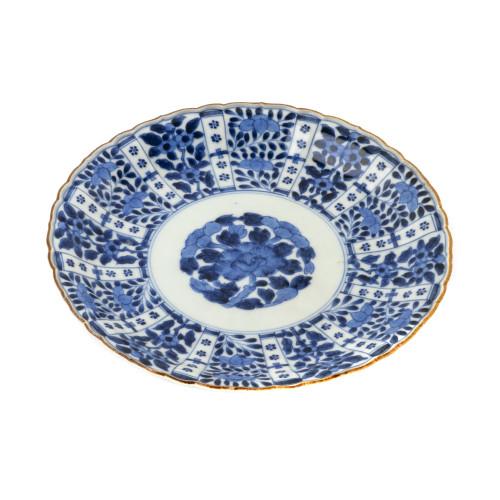 Japanese Arita ware porcelain Meiji period dish front view