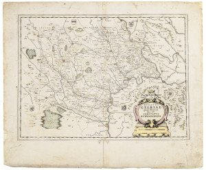 1666 Jan Jansson Antique Map Dvcatvs Gelriae Pars Teria