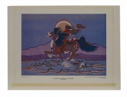 A Woody Crumbo Night Rider Original Print Wall Art