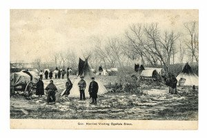 Native American Postcard Ogallala Sioux Gov. Herried Antique 1