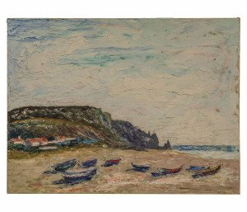 An Original Impressionist Landscape Painting Beach Scene