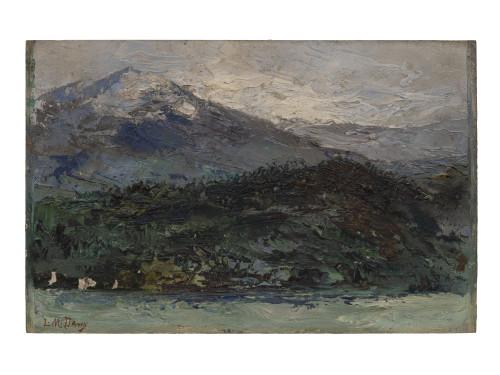 An Alaksan wall art landscape painting Leonard Davis