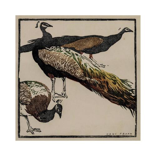 Hans Frank woodblock print