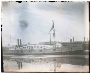 An Antique Glass Plate Negative Photograph NY Central RR Link Chicago