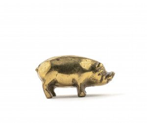 A Vintage Pig Paperweight
