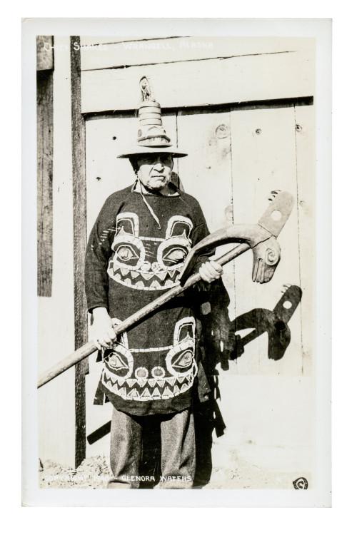 Postcard Photograph RPPC Tlingit Chief Shakes Alaska 1