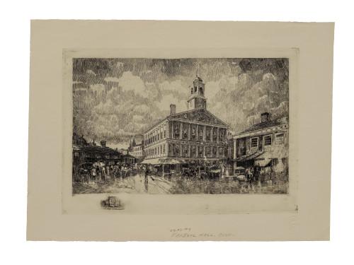 A Robert Shaw Faneuil Hall Boston Historical Wall Art Print