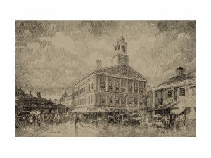 Robert Shaw Faneuil Hall Boston print