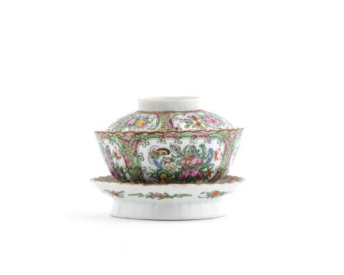 Rose medallion porcelain china set view
