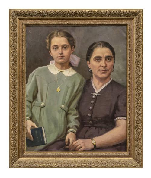 Vintage Russian Portrait Painting Russian School