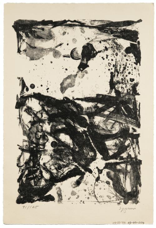 Shigeru Izumi Signed Lithograph Circa 1962