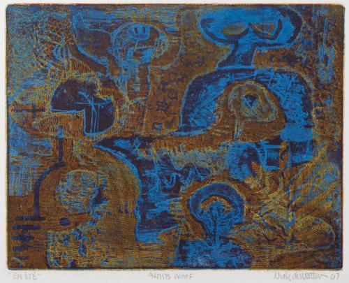 Nick De Matties, Artist Proof  Vintage Etching Print