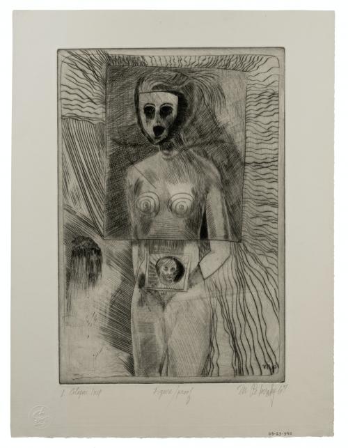 """Mel Pekarsky Vintage Intaglio Print Still Life Artists Proof 67"""""""