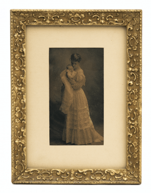 A Gilt Framed Antique Photograph Of A Mother & Child