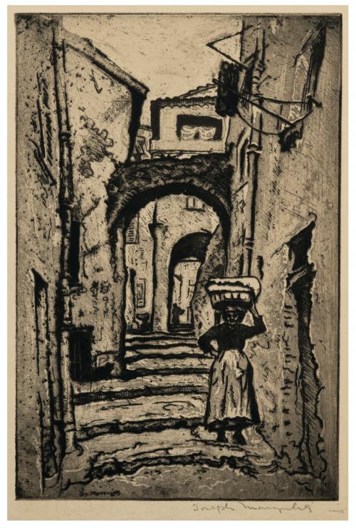 Joseph Margulies Steps & Stairway Italy Vintage Print, Aquatint