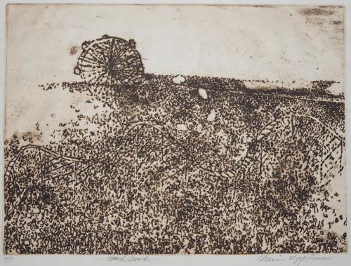 "Chaim Koppelman Artist Proof Etching ""Beach Crowd"" American Artist"
