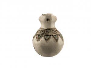 An Antique Japanese Pottery Ojime Bead Of A Miniature Vase