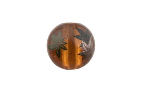 Japanese amber ojime bead