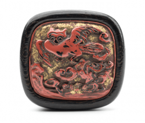 An Antique Japanese Meiji Era Lacquer Netsuke