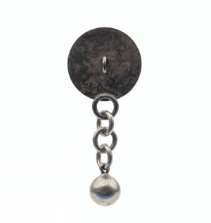 An Antique Botanical Decorated Button Bell