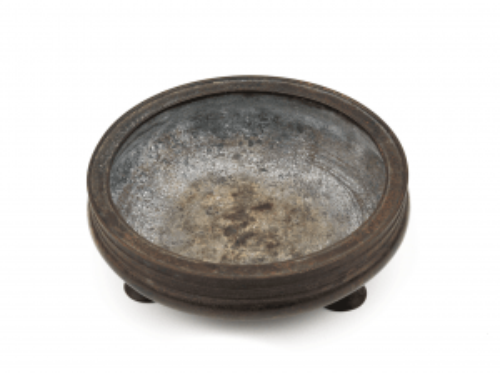 An Antique Chinese Bronze Inscribed Bronze Censer