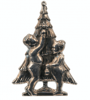 A Vintage Gorham Silver Plated Christmas Ornament