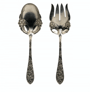 A Wallace Repousse Decorated Sterling Silver Serving Set